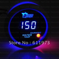 "NEW 2"" 52mm BLUE DIGITAL WATER TEMP TEMPERATURE GAUGE METER CAR AUTO MOTOR"