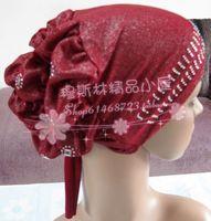Tg006 fashion rhinestones bubble cap hijab bandanas hijab
