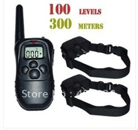 100LV Shock + Vibra Remote Electric Dog Training Collar  for 2 dogs