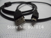 10ft 3m Free Shipping USB 2.0 Type A Male to Mini B 5pin Male USB Cable  Cord  for MP3 MP4 player