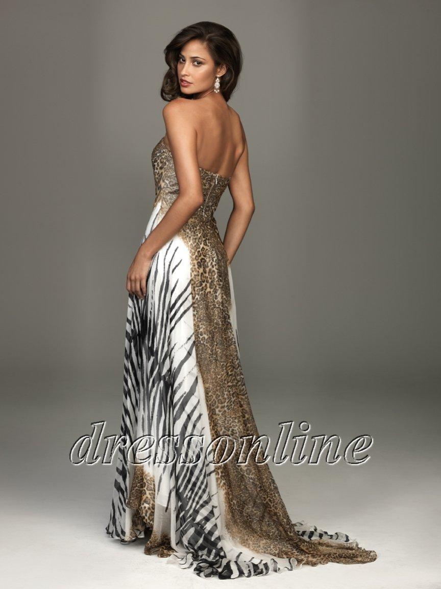 Animal Print Prom Dresses Under 160 Dollars - Evening Wear