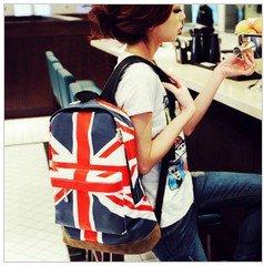 free shipping , hot sale UK/USA flag canvas packbag /flag bag/student bag/school bag(China (Mainland))