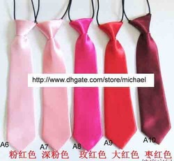 boy's tie children's neck ties solid color wedding necktie Baby neckwear neckcloth rubber band(China (Mainland))