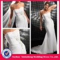 YW-12061254 Strapless Chiffon Bandage Beach Wedding Dress(China (Mainland))