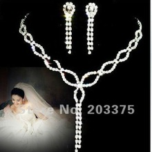 Bridal wedding Jewelry Set Rhinestone Party Dancing Accessories Free Shipping(China (Mainland))