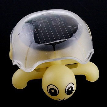 Mini Solar Educational Toy Little Tortoise Solar powered Turtle with solar panel for Kids Funny free shipping