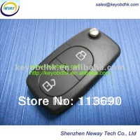 VW 2 buttons remote key cover (Round) & VW flip remote button part & 2 button VW flip remote case