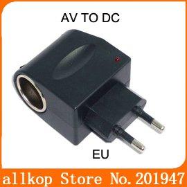 12V Household Car Charger Cigar Cigarette Lighter 110V-220V AC to 12V DC EU Car Power Adapter Converter free shipping(C