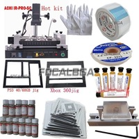 Free Shipping Full Set ACHI IR-PRO-SC/ACHI IR PRO SC Infrared BGA Rework Station+Heat Direct BGA Stencils+BGA Tool set/toos kit