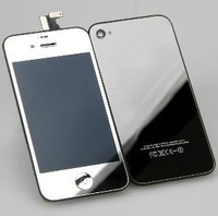 Plating silver Conversion Kit (LCD Touch Screen Digitizer Assembly+Back Housing+Home Button) for iPhone 4S