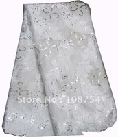 Korea lace,wedding lace,  net lace, sequence lace,embroidery lace, best quality Free shipping . L116-5 white