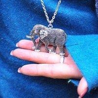 Free shipping, Charming vintage European alloy elephant pendant necklace, Wholesale fashion jewelry