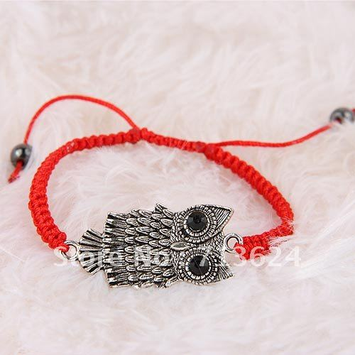 New fashion hand-woven owl bracelet, free shipping(China (Mainland))