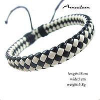 sl239/Free shipping,PU leather bracelet,high quality casual knited  bracelet,fashion jewelry,100% handmade jewelry