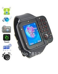 "Free Shipping Unlocked Watch Cell Phone Ak10 Dual sim+ Bluetooth+FM+1.3""full touch screen+Camera+Quad band with Russian language(China (Mainland))"
