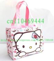 Free Shipping  1pc hello kitty  Cartoon student lunch box  / lunch box  / lunch / lunch  / hand bag handbag