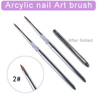 Free shipping 12pcs/Lot- 2#Nail Art Brush Arcylic Pen Arcylic nail Art brush