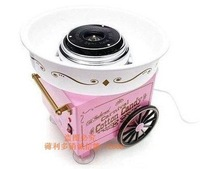 FREE SHIPPING! The upscale new mini electric cotton candy machine, gift spoon bamboo stick