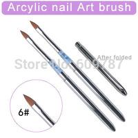 12pcs/Lot- 6#  Kolinsky Sable Brush Acrylic Nail Art Builder Brush Design for acrylic nail brushes