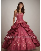 2013 Fast delivery customized  sweetheart strapess beautiful ball gown quinceanera dresses