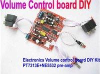 Free shipping --Electronics Volume control board Fever PT7313E+NE5532 pre-amp DIY board kits