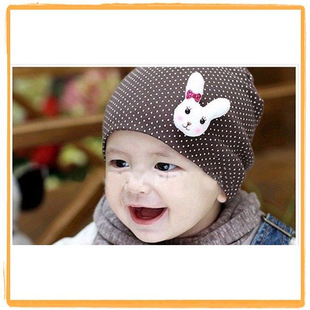 New style wholesale free shipping fashion baby hat / rabbit hat / infant cap / boys&girls headress / skull cap / Beanie Hats(China (Mainland))