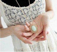 Min.order is $10 (mix order) New Metal  Imitation Gemstone Pendant Antique Necklace NJ-0185