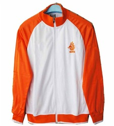 Promotion Holland white football jackets / outerwear / coats, Netherlands soccer training sweater / activewear / clothings(China (Mainland))