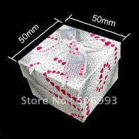 Fashion   Ring Boxes with paper  24pcs/lot  HA893 50*50mm  Free shipping