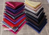 Male suit formal dress accessories pocket towel solid color faux silk scarf handkerchief multicolor 22*22cm
