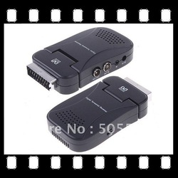 Retail packing DVB-T Digital video broadcasting Terrestrial Receiver Mini Scart TV Tuner box Freeview with Remote control(China (Mainland))