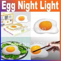 2015 New energy saving novelty poached egg night lamp children room led push night lamp Free Shipping