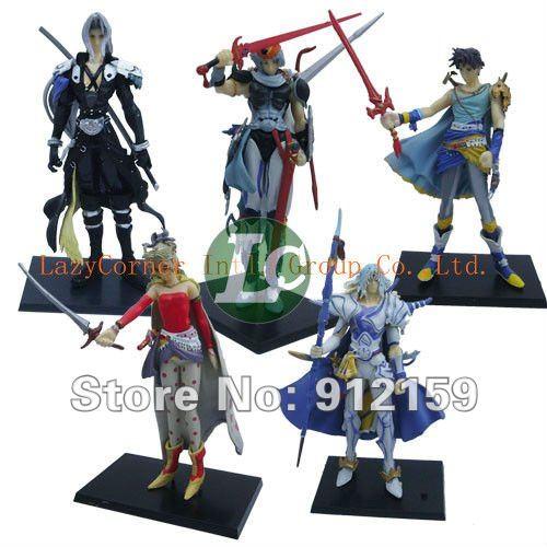Wholesale Lastest PVC Final Fantasy Action Figure Set of 5 Figures Dolls Toys Cartoon Doll Model Birthday Christmas Gift(China (Mainland))
