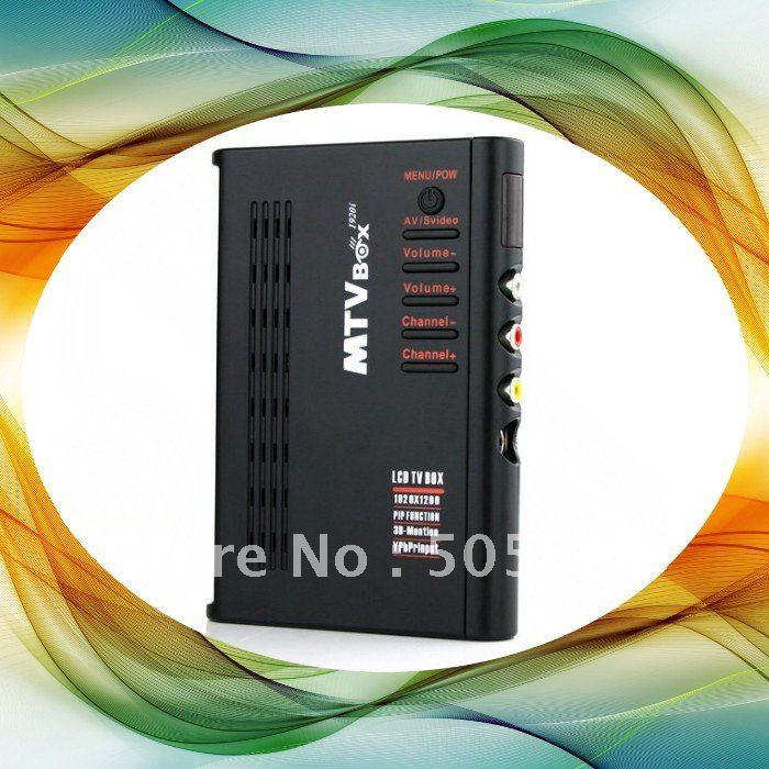 HD LCD Analog TV Tuner box, Analog TV Receiver HDTV HD 3D Graphics Supports SXGA and WXGA/SWXGA+Free Shipping(China (Mainland))