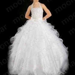 HOT SELLING FLOWER Girl Kids Pageant Dress Bridesmaid Dance Party Princess Ball Gown Foraml Dresses(China (Mainland))