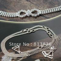 Free Shipping 2pair/lot Halo Classic Infinity Rhinestone Shoulder Bra Strap Bridal Crystal Imitation Jewellery BB172-114
