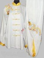 Shuanglongxizhu Silk Tai Chi clothing veil tai chi clothes and martial arts apparel men and women summer