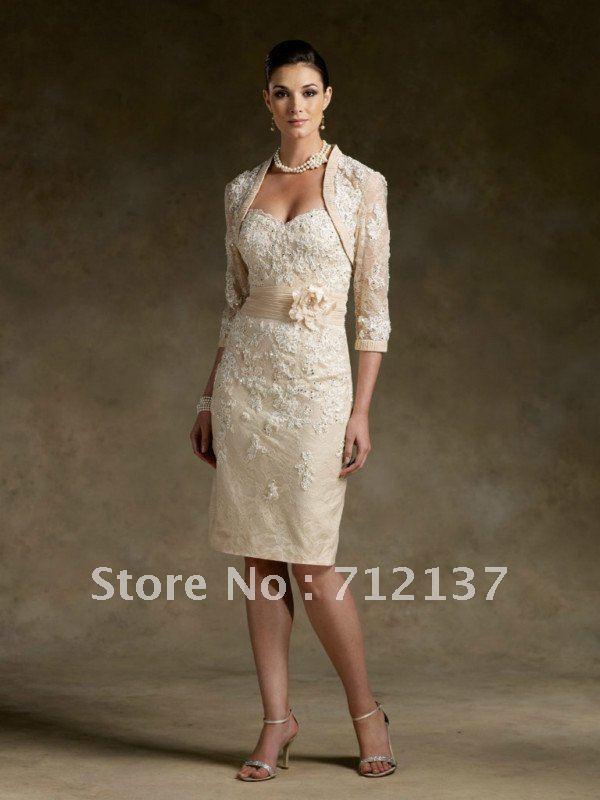 Compra vestido de novia corto madre online al por mayor de
