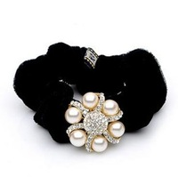 Free shipping!Retail !Noble!High Quality ! Rhinestone peral Flannelette hair circle Hair band hair accessories