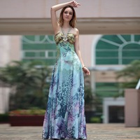 Free Shipping DORISQUEEN new Hatter sexy printed prom dress long 2013 ready to wear