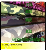4 Colours 1.52*30m/roll Car Wrapping Camouflage  air free bubbles 3D camouflage Carbon Fiber Vinyl car sticker