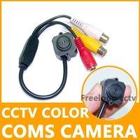 New Wired Super Color CCTV COMS Pinhole Video AV Security Camera