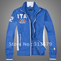 Free shipping, 2012 new arrival high quality fashion casual jacket, wind and waterproof, breathable men's polo jacket