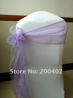 lavender organoza  sash/chair sash/chair bow