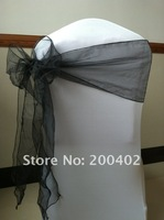 black organoza  sash/chair sash/chair bow