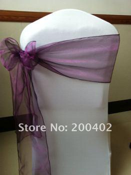 purple  organoza  sash/chair sash/chair bow