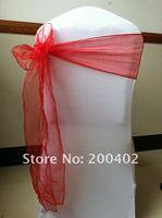 red organza  sash/chair sash/chair bow