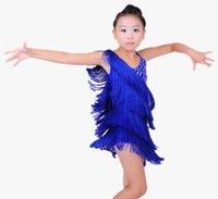 Retail&Wholesale~child Tassel Latin perform dress/skirt 6~15T