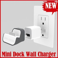 Free shipping wholesale 5pcs MiniDock Mini Dock USB Charger for Apple iPhone iPod Handy Wireless wall charger