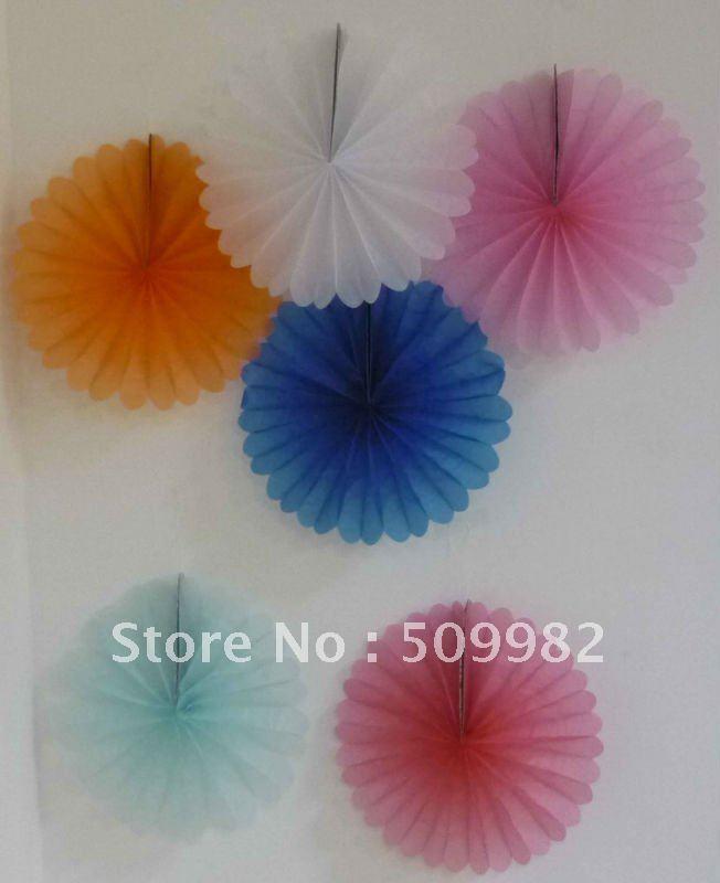 10ps/lot+Free shipping Fan design paper lanterns,green tissue ...